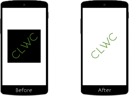Before and after preview of the Rotate Live Wallpaper